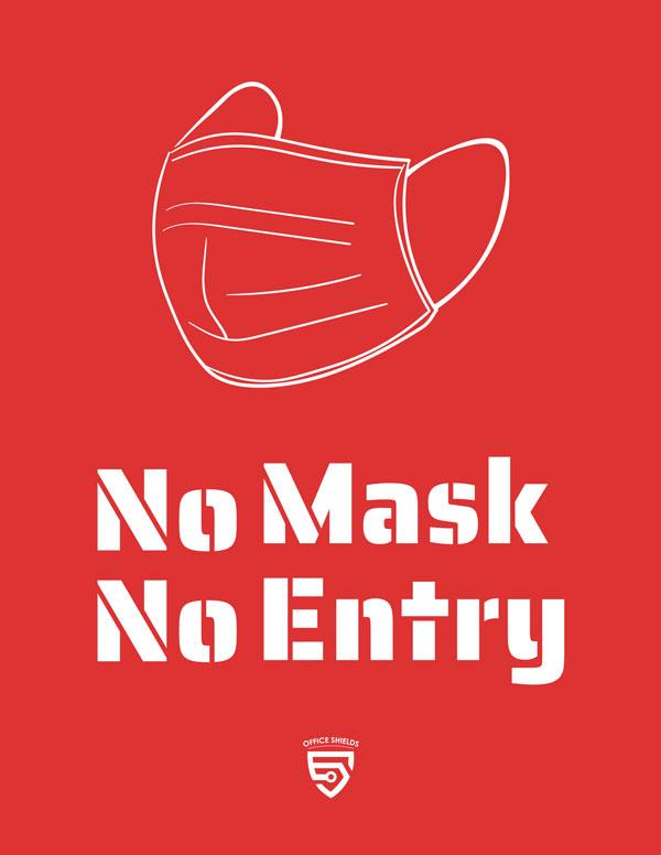 No Face Mask, No Entry Sign