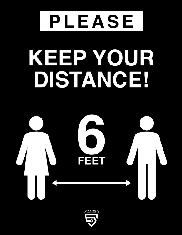 Please Keep Your Distance Sign