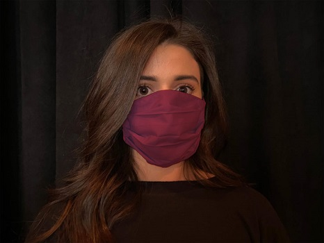Lady with mask on her face